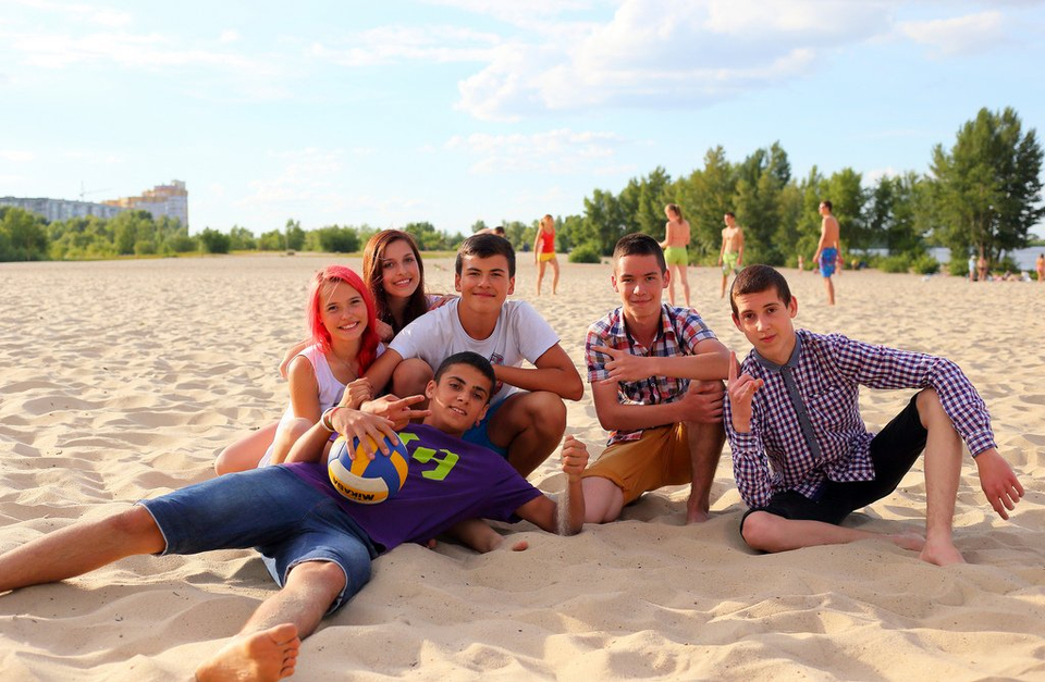 Teens Hanging out at the Beach - Teen Rehab