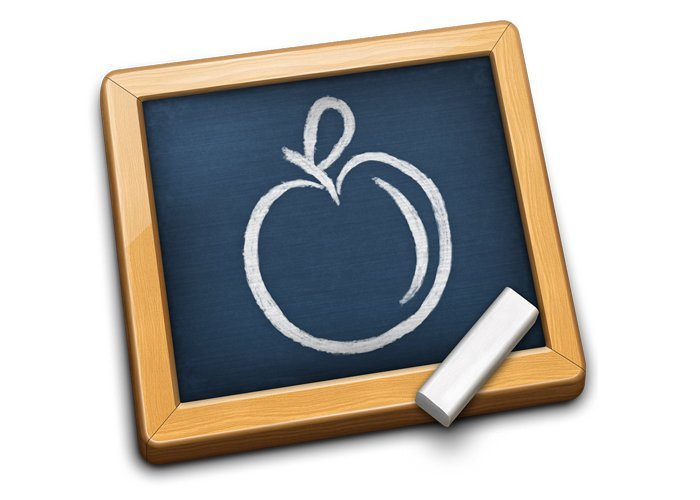 Apple on Chalkboard - Teen Rehab