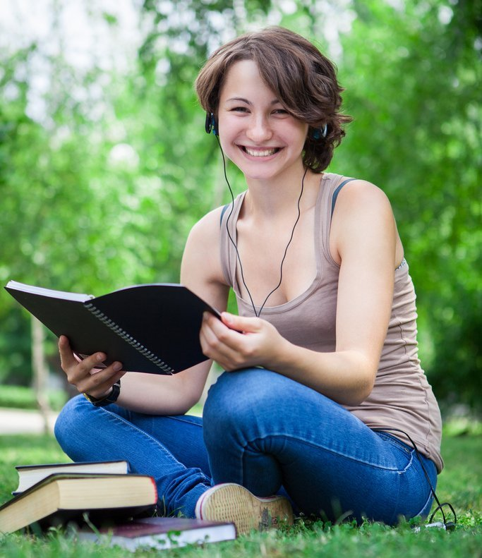 Girl Outside Reading - Teen Rehab