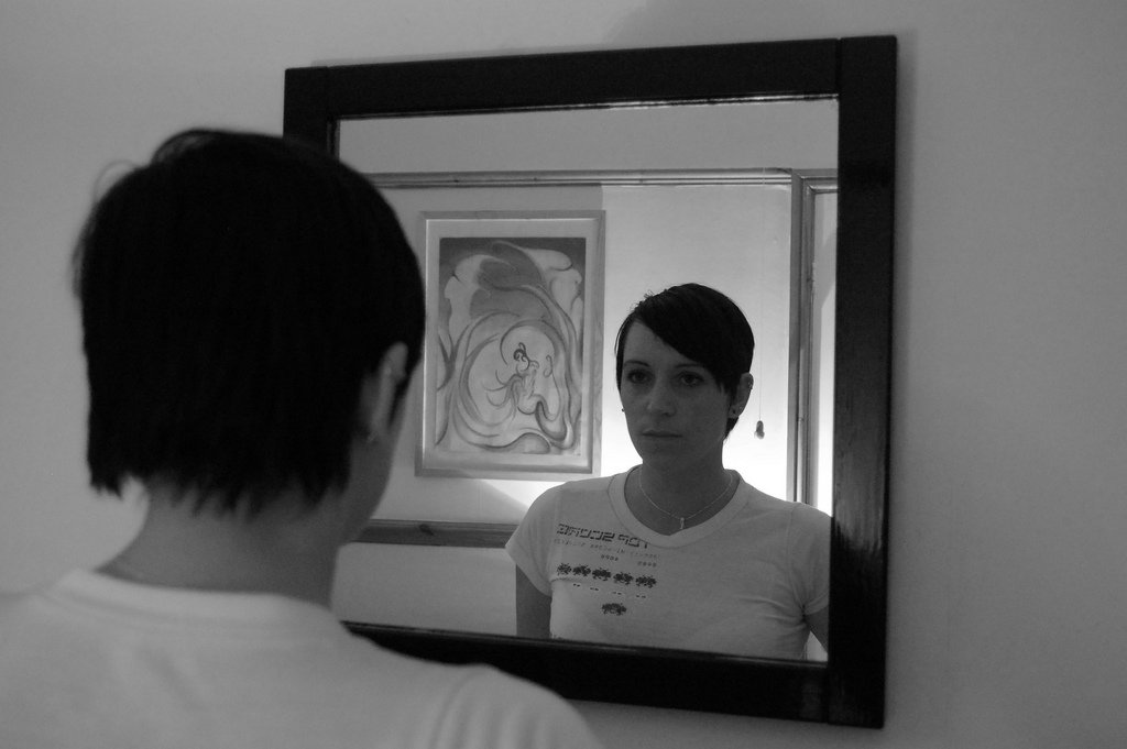 Girl Looking In Mirror - Teen Rehab