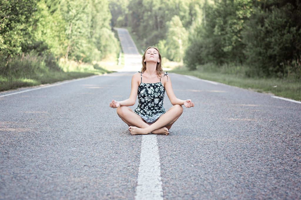 Girl Meditating Street - Teen Rehab