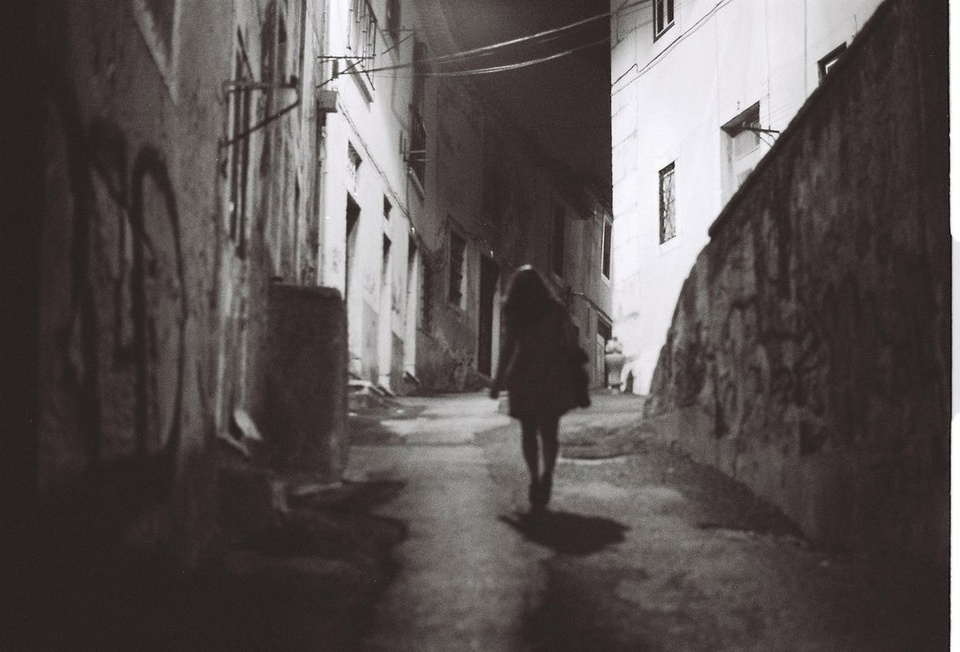 Girl in Alleyway B&W - Teen Rehab