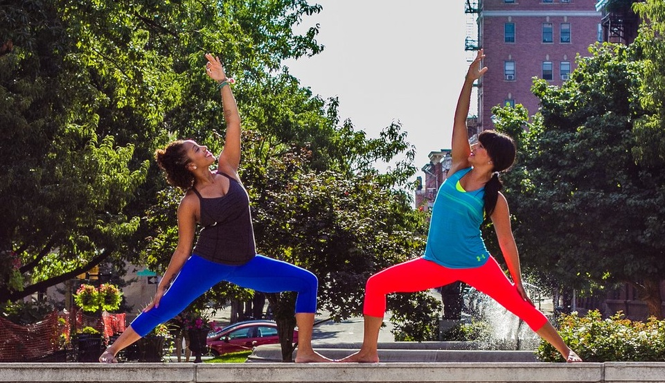 Women Doing Yoga In Park - Teen Rehab