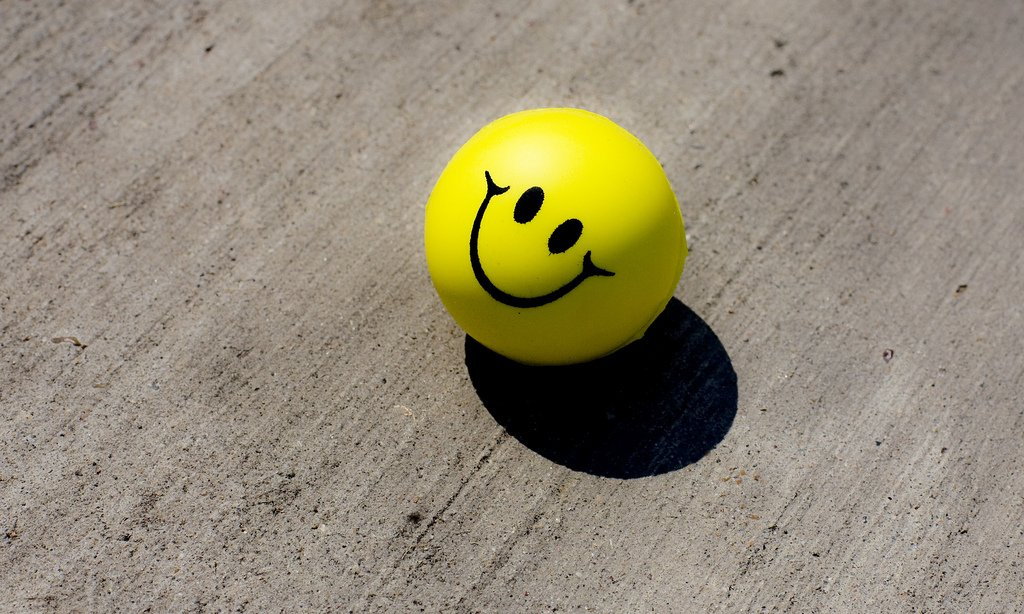 Yellow Stress Ball Smiley Face - Teen Rehab