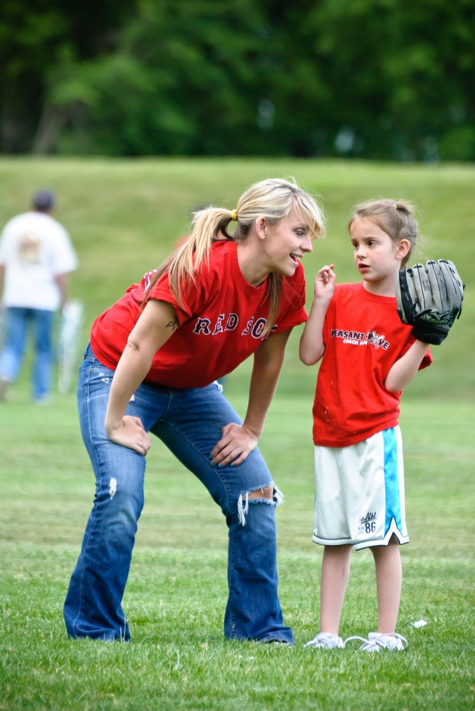 Mother Daughter Playing Baseball - Teen Rehab