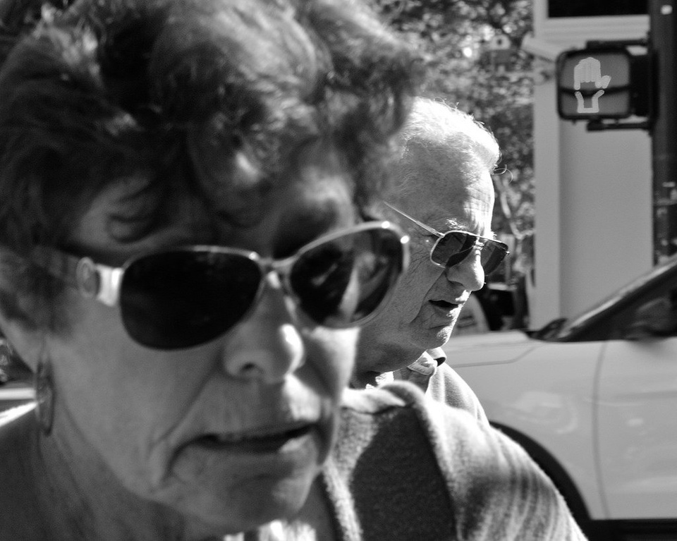 Old Couple With Sunglasses - Teen Rehab