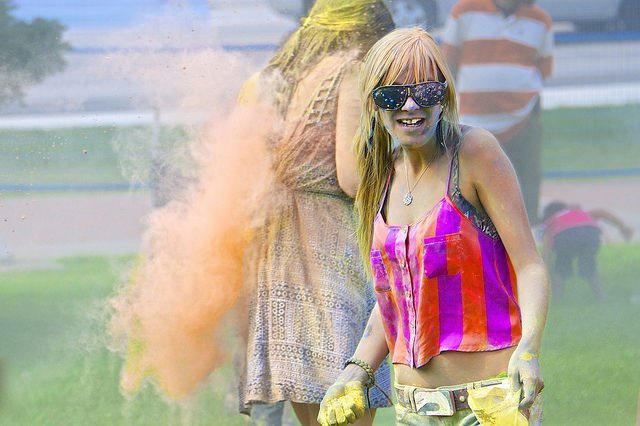 Teenage Girl At Color Festival - Teen Rehab