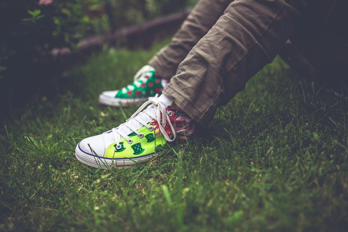 sneakers painted handmade colors patterns design