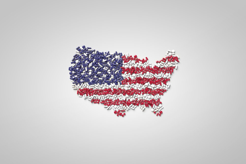 pills american flag united states