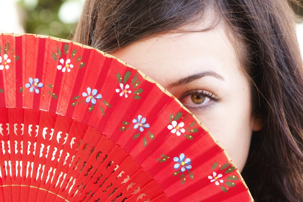 woman girl fan