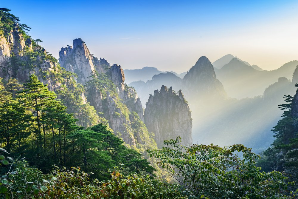 nature cliffs mountains trees