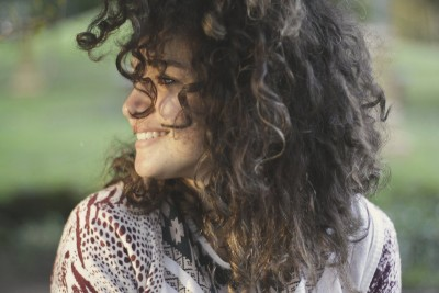 girl woman smile curly hair