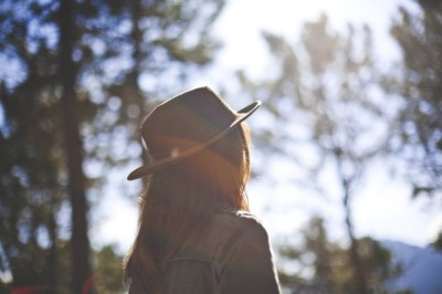 girl woman hat nature