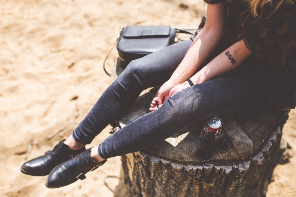 girl woman jeans denim boots