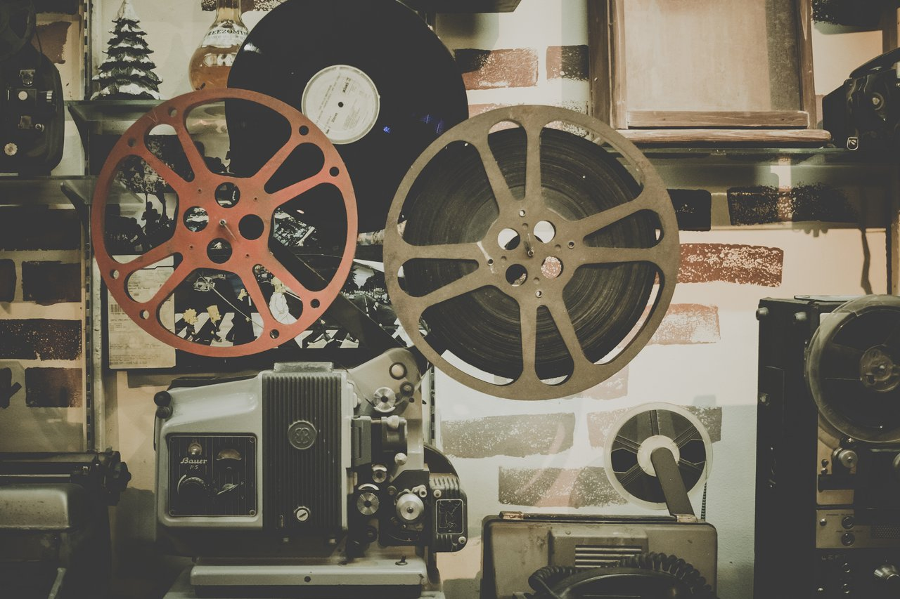 film reel and projector