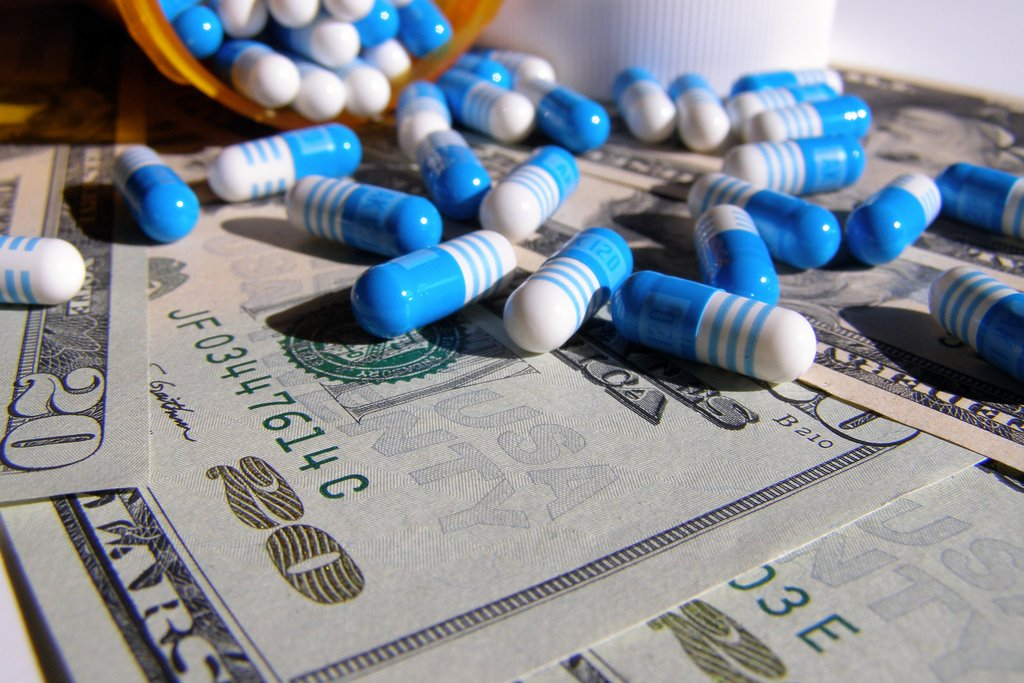 drugs pills blue white bills
