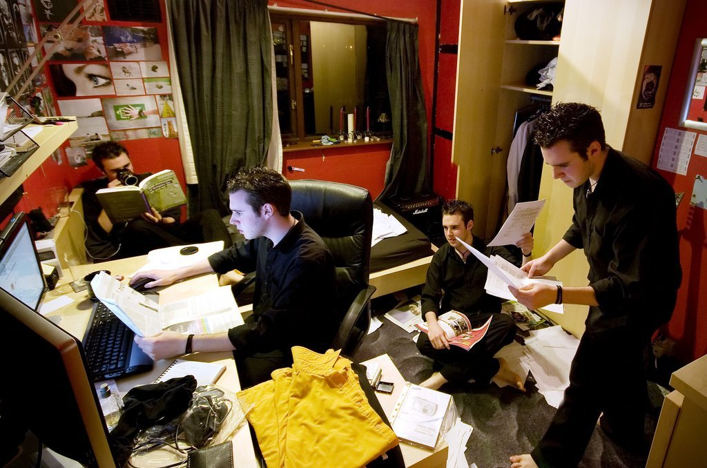 students studying exams