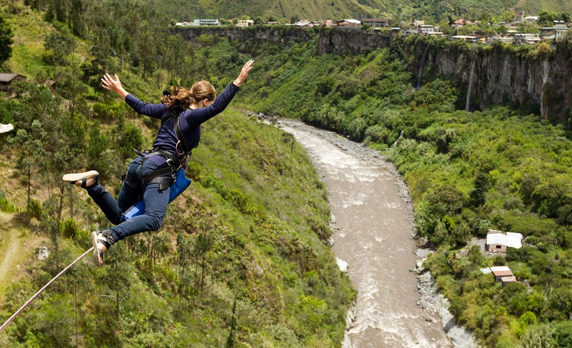 Teen Rehab - benefits of exercise - bungee jumping
